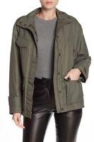$495 NWT Vince Solid Flap Pocket Zip Anorak Jacket Khaki Green Size S Small 4 6