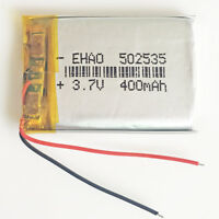 3.7V 400mAh 502535 Lipo Polymer Battery For mp3 smart watch GPS USB Pen camera