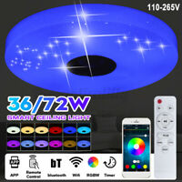 36W Ceiling Light LED RGB bluetooth Music Speaker Dimmable Pendant Lamps  ! {}