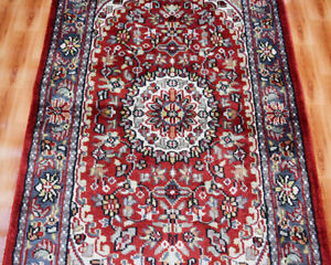Silk 60x90 Hand-Knotted Oriental Rug 2'x3' Red Color Traditional Design Kazak