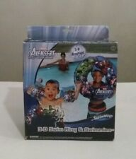 Marvel Avengers Assemble 3-D Graphics Swim Ring & Swimmies Kids/Boys Ages 3-5