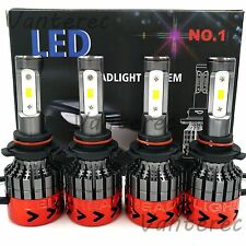 9005 9006 Package Kit 6000K LED Total 540W 54000LM Combo Headlight High Low Beam