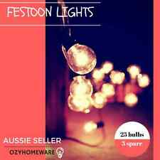 3x25 Piece String Lights Festoon Wedding Patio Party Fairy Outdoor Marquee Retro