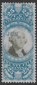 Mr B's US Used 1872 Washington Revenue  #R112 - Light Cancel w/ date - FREE SHIP