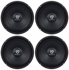 "(4) Rockville RM88PRO 8"" 8 Ohm 1200 Watt SPL Midrange/Mid-Bass Car Speakers"