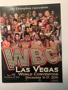 Mike Tyson & Oscar De La Hoya Signed 2011 WBC CONVENTION PROGRAM