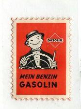 Vintage Poster Stamp Label MEIN BENZIN GASOLIN German Gasoline advertising