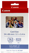 Genuine CANON KC-36IP Photo Printer Ink/Paper Set for SELPHY CP1200 910 900 800
