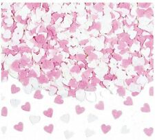 1200 Baby Pink And White Hearts Wedding Party Biodegradable Throwing Confetti