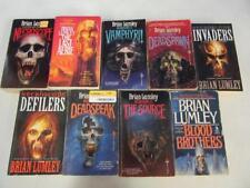 BIG Lot (9) BRIAN LUMLEY Horror Books NECROSCOPE SERIES Blood Brother LAST AERIE