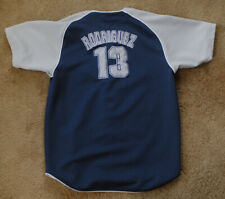 ALEX RODRIGUEZ 13 New York Yankees short sleeve blue jersey size youth XL