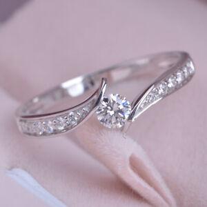 Gorgeous 925 Silver Ring Women White Sapphire Wedding Jewelry Rings Gift Sz 6-11