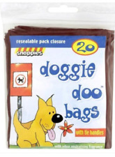 Snappies Dog Doggie Doo Bags + Odour Neutralising Fragrance x 20 Waste Poo BAGS