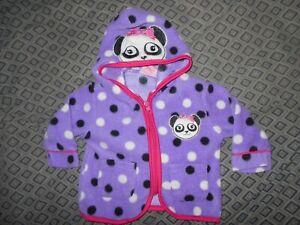 Mon Petit Girls 6-9 Panda Zip Up Coat