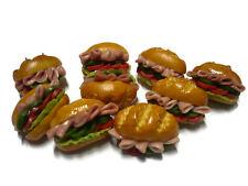 10 Loose Subway Sandwich Dollhouse Miniatures Bakery Food Supply Deco Fast Food