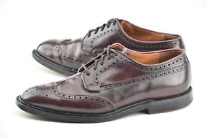 CHURCHS 7.5F UK / 8.5D #8 SHELL CORDOVAN GRAFTON WINGTIP BROGUE DRESS SHOES