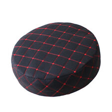 Bar Stool CoverS Round Chair Seat Cover PU Sleeve Black Fit 15-16'' / 40cm