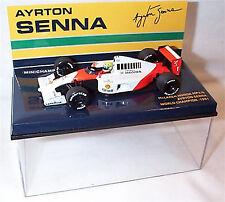 Campeones en miniatura 1:43 Ayrton Senna Mclaren Honda MP4/6 campeón del mundo 1991