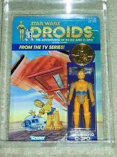 Vintage Star Wars 1985 AFA 85 C-3PO DROIDS CARTOON TV SERIES BACK CARD MOC UNP!!