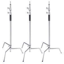 Neewer 3 Packs 3m Adjustable Stainless Steel Studio Light Stand Tripod