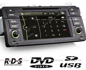 autoradio bmw e46, bluetooth GPS USB + CAMERA Recul
