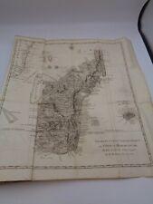 Abbé Rochon : Voyage à Madagascar et aux Indes Orientales 1791 grande carte