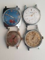 orologi Russi vintage lotto 4 pezzi uomo Carica manuale