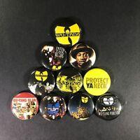 """Wu Tang Clan 1"""" Button Pin Set Hip Hop Rap 36 Chambers ODB RZA GZA Method Man"""