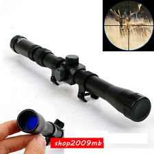 Optics 3-7X20 Cross Reticle .22 Rifle Scope Sight With 20mm Mount for Hunting