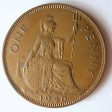 1940 GREAT BRITAIN PENNY - Great Coin - Free Ship - Premium Vintage Bin #21