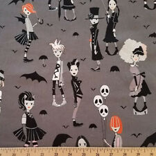 By Yard-Going Goth Teens Fabric Alexander Henry fabric 8736C Charcoal