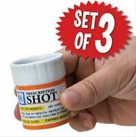 Prescription Shot Glass 3-pk Set - Game Room Bar Set - GaG Funny Joke Gift