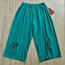 NWT's Oh My Gauze! OMG Sammy Jade Cotton Cropped Pants 3
