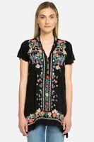 Johnny Was Mikones Embroidered A-Line Tunic Top Boho Chic C24318 NEW