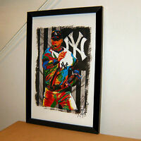 Derek Jeter New York Yankees MLB Baseball Sports Print Poster Wall Art 11x17