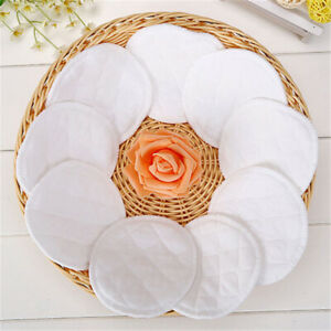 3.9 in Reusable Plaid Cotton Breast Pads White Comfort Nursing Pads 10 Pack