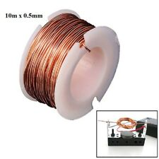 10m Magnet Wire 0.5mm Enameled Copper Magnetic Coil Winding Electromagnet Motor