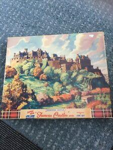 Vintage Jigsaw Puzzle Famous Castles Series - Edinburgh Castle - Over 400 Pieces