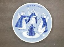 Hark The Herald Angels Sing 1972 JULEN CHRISTMAS PLATE NORWAY PORSGRUND FREE S/H