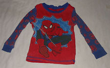 Disney Marvel Spiderman Pajama Top Long Sleeve Cotton Boys Spider Man Toddler 2