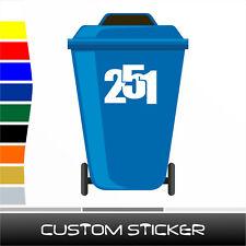 Número De Casa Moderna Pegatina Calcomanía Para Wheelie Bin Contenedor de desechos (ST036)