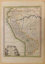 Chorographie du Pérou Gravure 1774 Amérique du Sud Carte par Moithey
