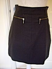 ZARA BASIC BLACK BUSINESS OFFICE SKIRT SIZE SMALL APPROX UK 10 GOOD CONDITION