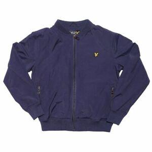 Boy's Lyle And Scott Junior Lightly Regular Fit Bomber Jacket in Blue
