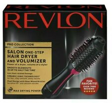 New Revlon PRO Collection Salon One Step Hair Dryer and Volumizer Brush Pink--