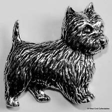 West Highland Terrier Pewter Pin Brooch - British Handcrafted - Dog Gift Present