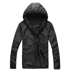 Hombre o Mujer Capucha Abrigo Impermeable Deporte Resistente Al Viento Chaqueta