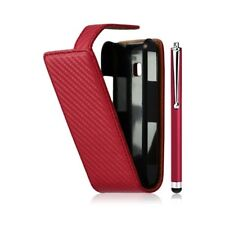 Cover hull embossed case for lg optimus gt540 red color + stylus + luxury yarn