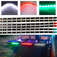 "6X RED,GREEN,WHITE 12"" LED Boat Bow Navigation Light Strips 5050 Waterproof 12V"
