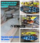 2.95m Single Fishing Kayak Sit on Rod Holders Canoe Camo Paddle Seat